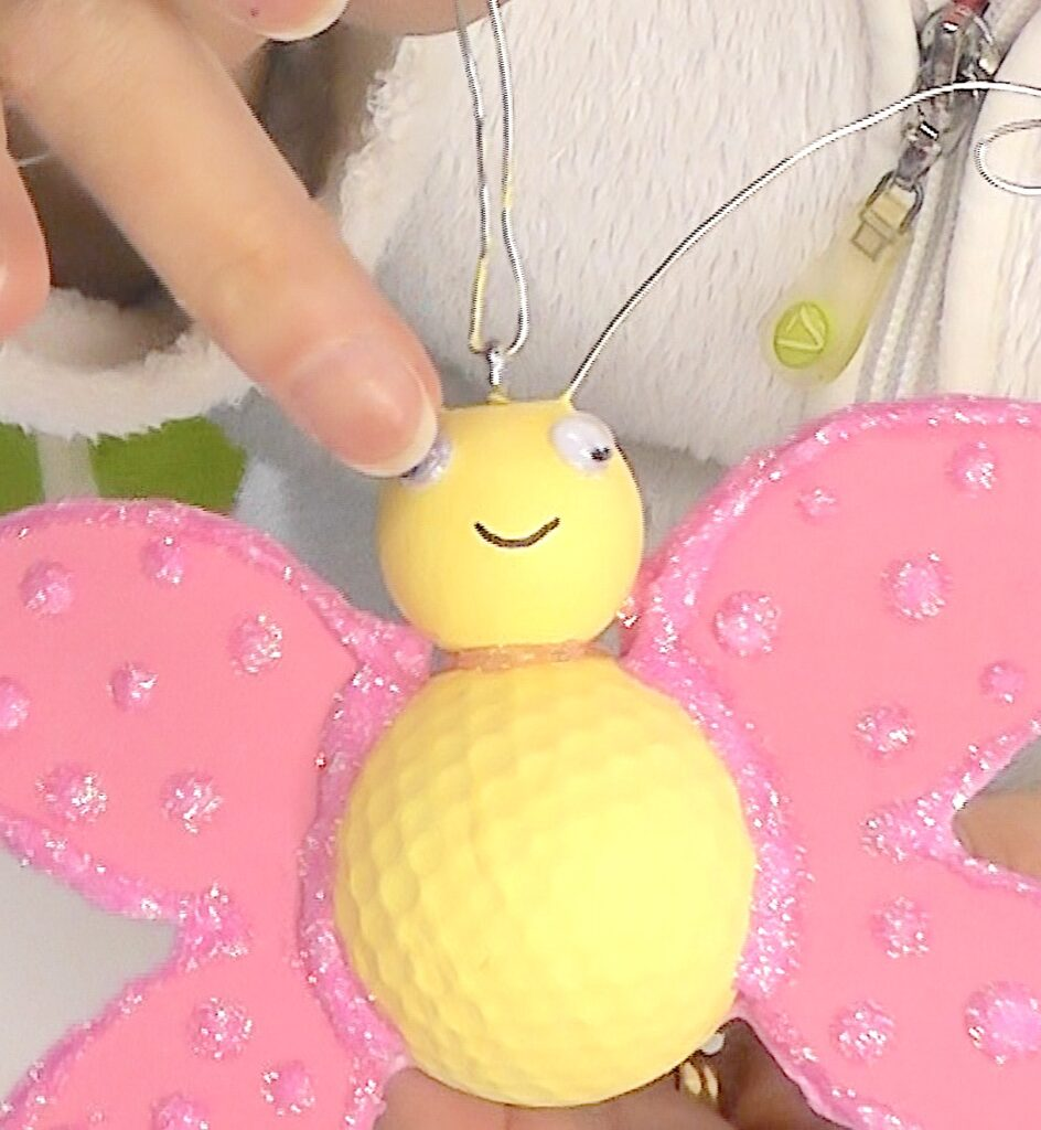 Glue on google eyes to the cute butterfly