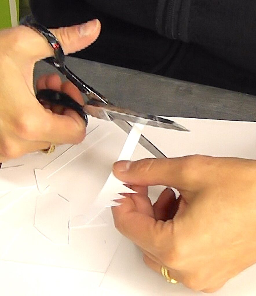 Cut out crown with a pair of scissors