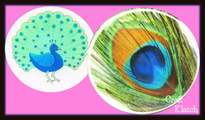 Diy Peacock Drink Coasters Another Coaster Friday Craft Klatch Craft Klatch