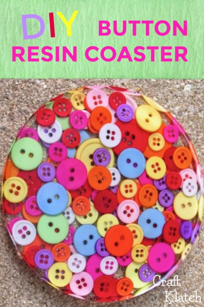 Colorful button coaster