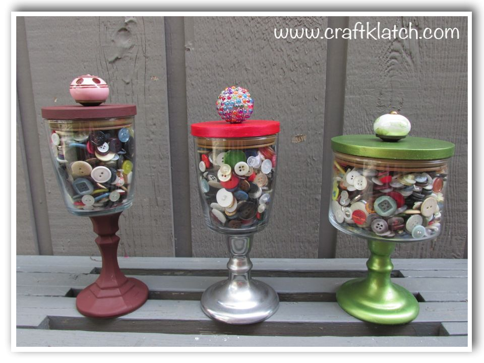 DIY Candle jars turned into storage