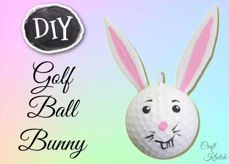 Golf ball bunny diy