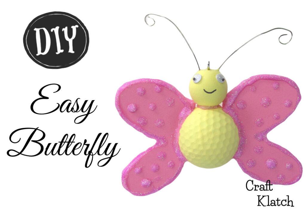 Easy Butterfly DIY Golf ball craft