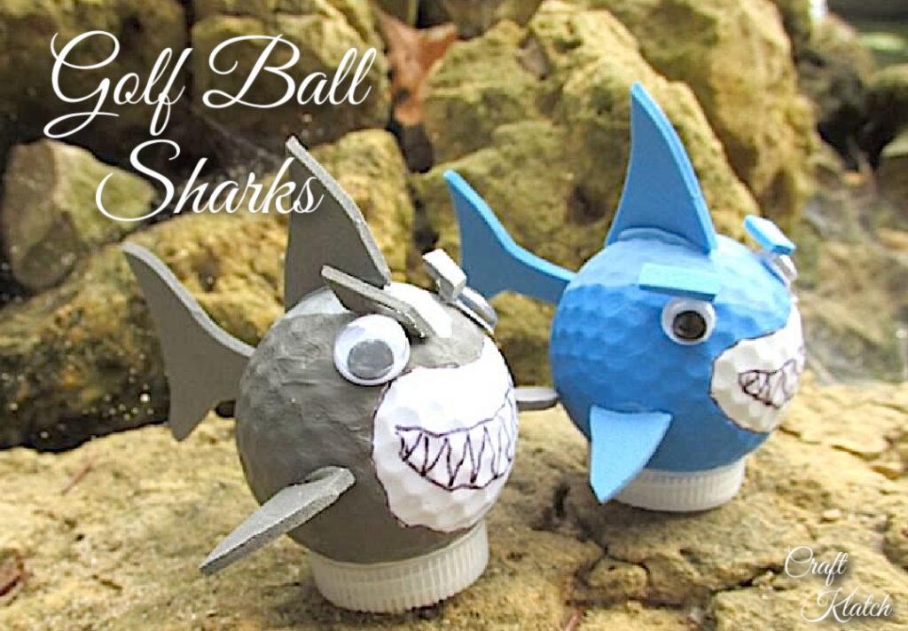golf ball shark crafts