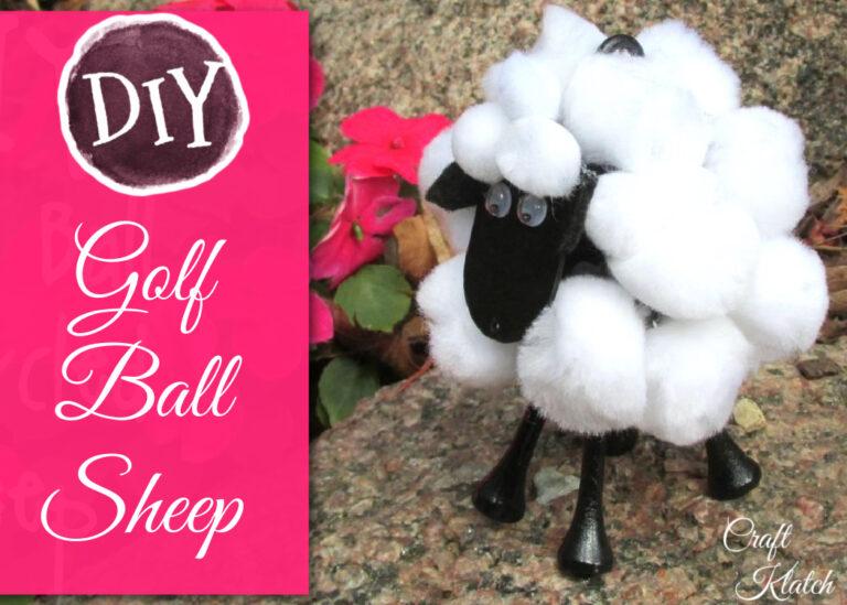 golf ball sheep diy