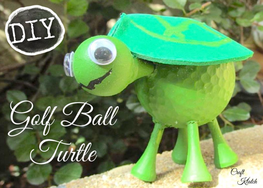 Golf ball turtle craft