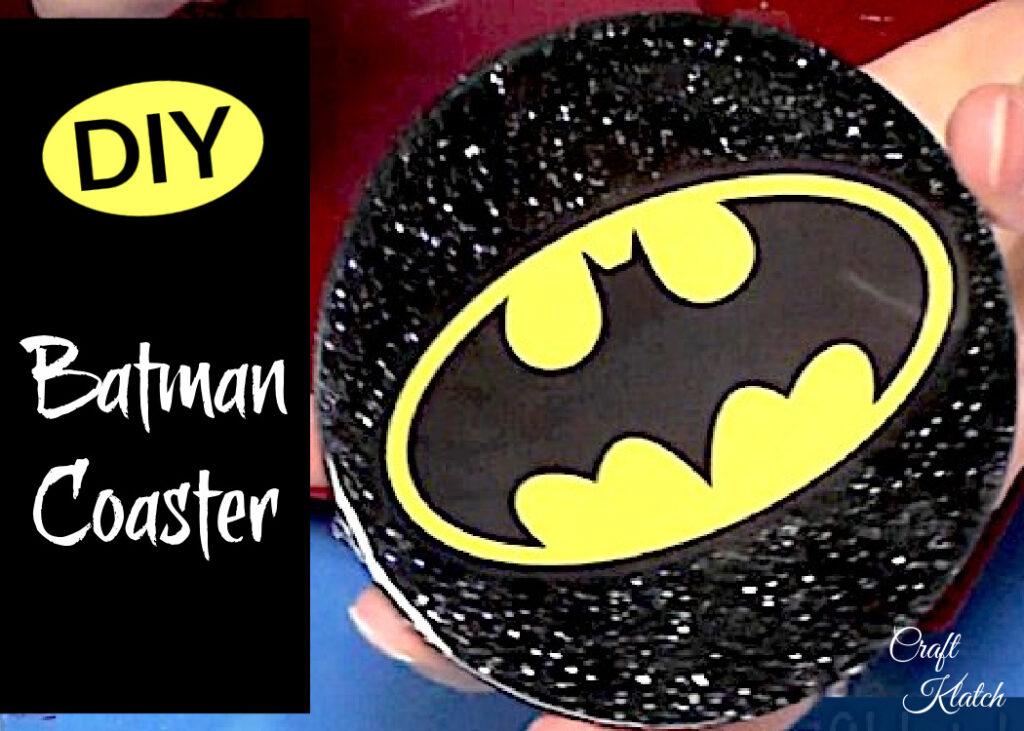 Batman resin coaster DIY