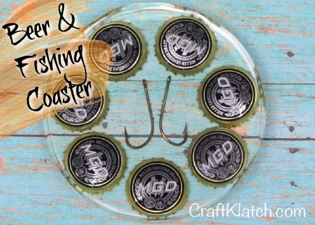 Beer and fishing coaster DIY | Easy Father's Day crafts