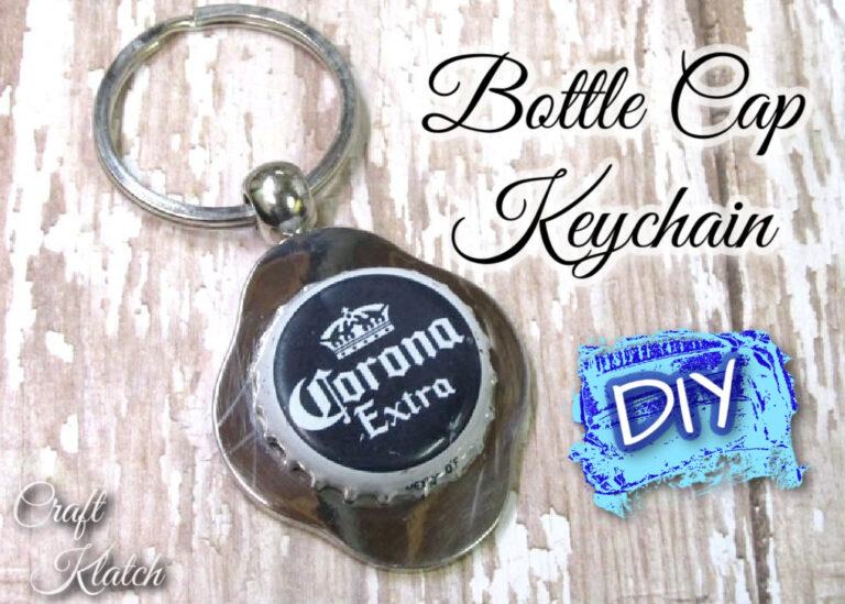 Bottle Cap Keychain DIY Corona beer