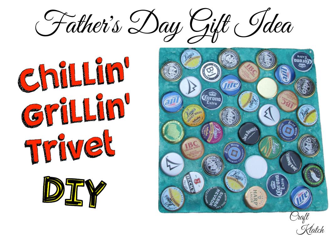 Father's Day Gift idea Chillin' Grillin' Trivet