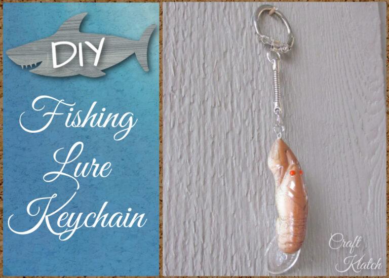 Crawfish Fishing lure keychain DIY
