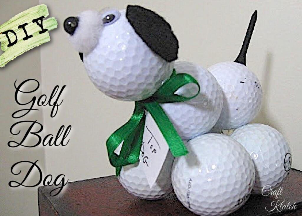 DIY Golf ball dog | Easy Father's Day crafts