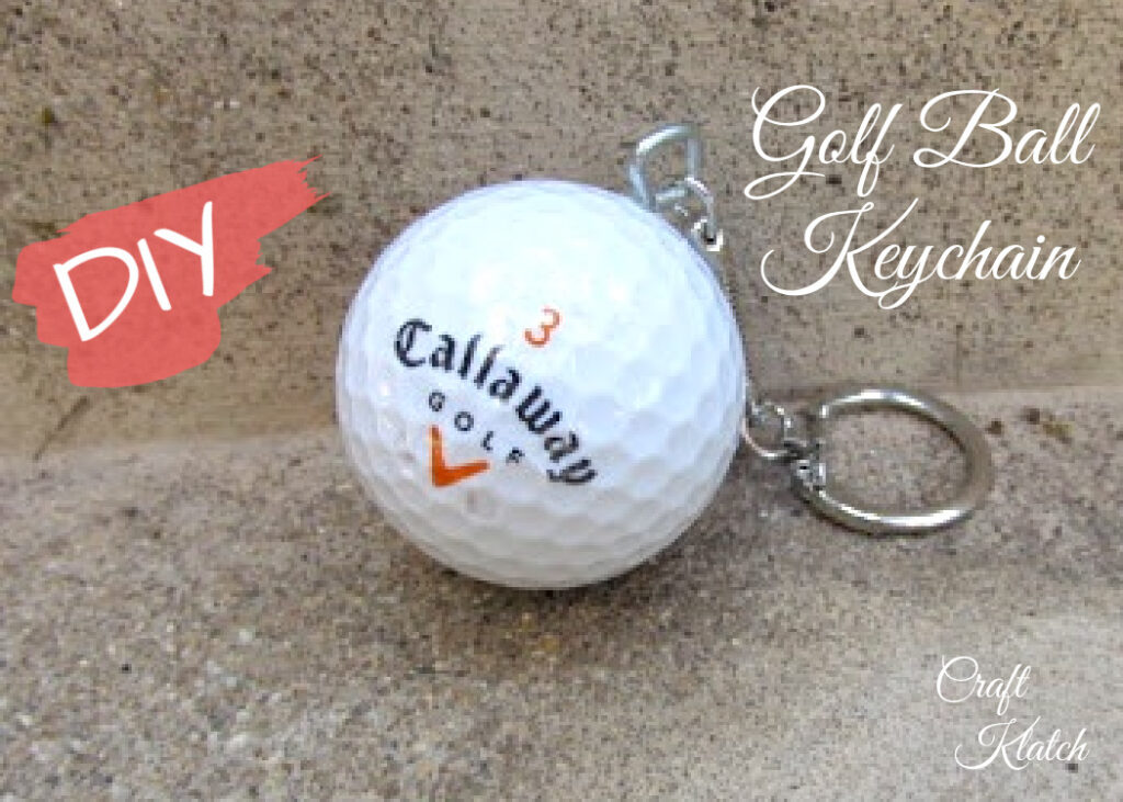 Golf ball keychain diy | Easy Father's Day crafts
