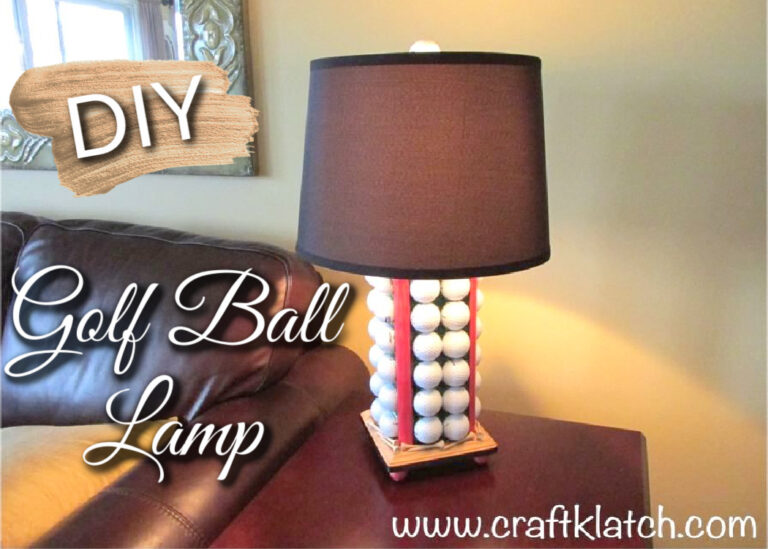 Golf Ball Lamp DIY