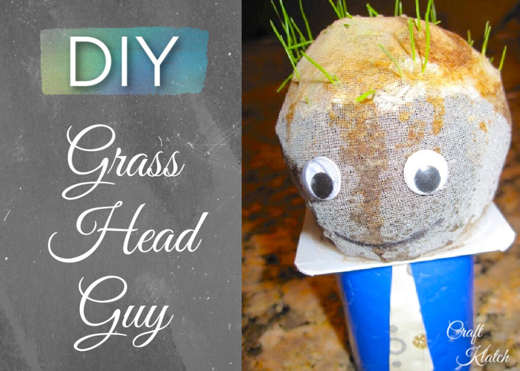 DIY Grass head guy craft | Easy Father's Day crafts