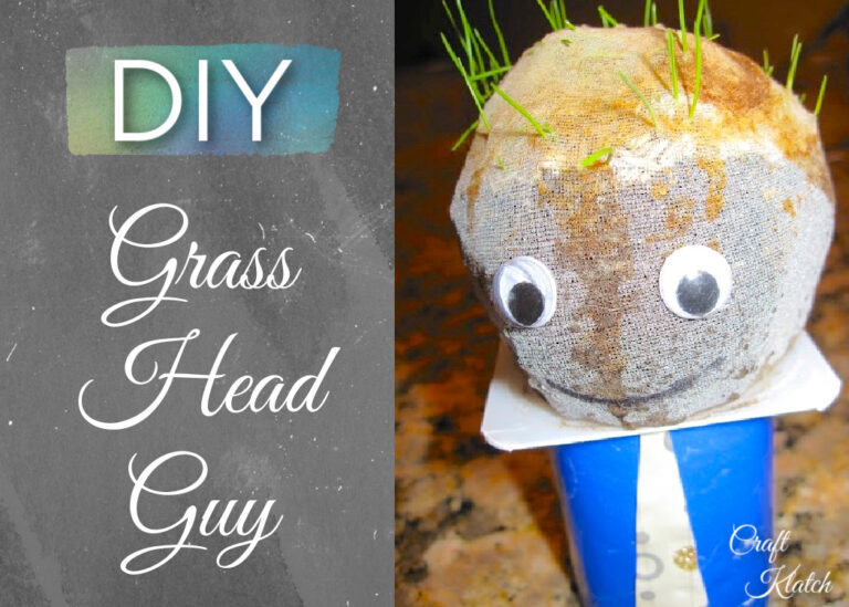 DIY Grass head guy craft