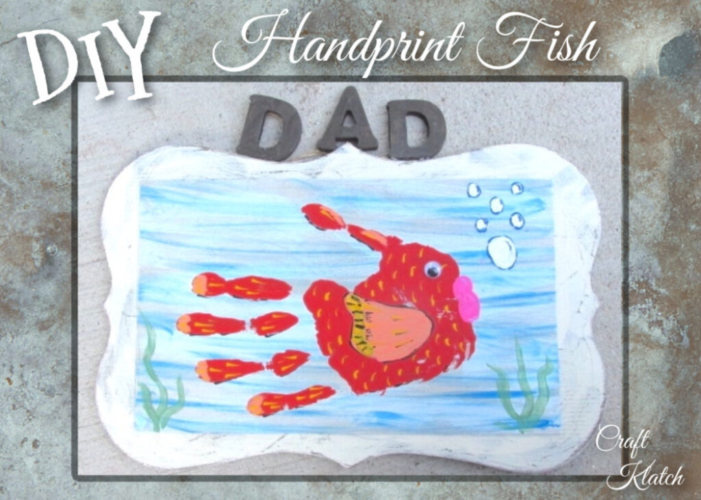 Handprint Fish painting DIy | Easy Father's Day crafts