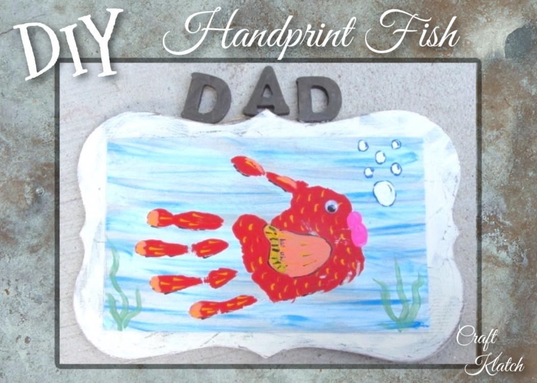 Handprint Fish painting DIy