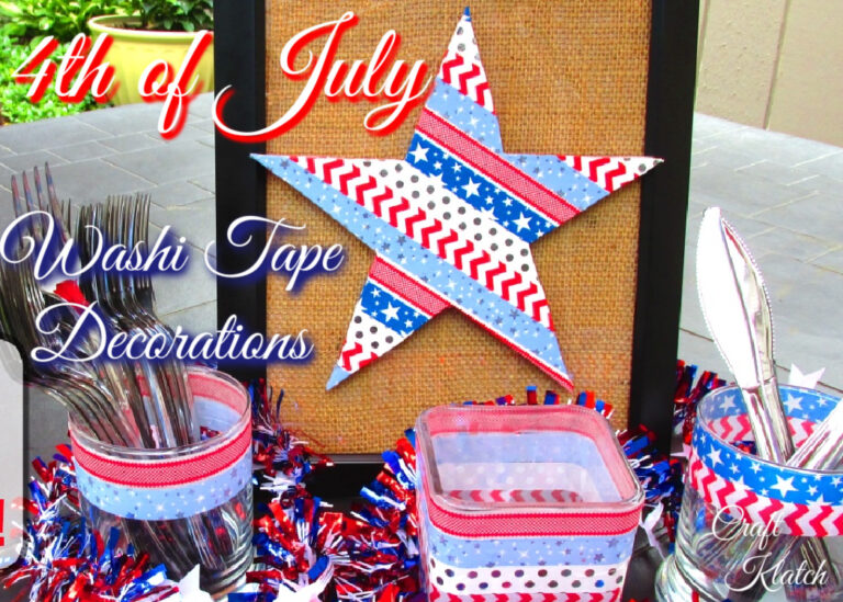 Fourth of July Washi Tape Decorations
