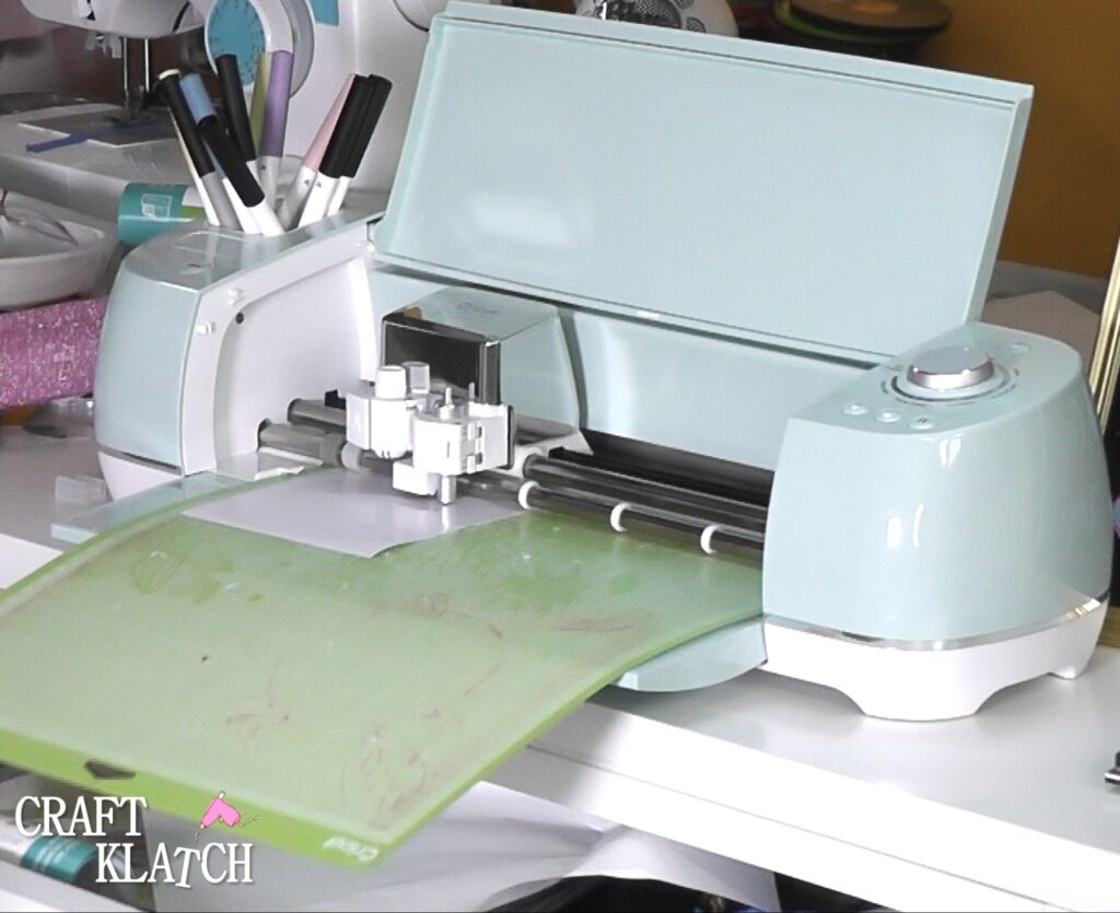 Cut out facial features with Cricut cutting machine