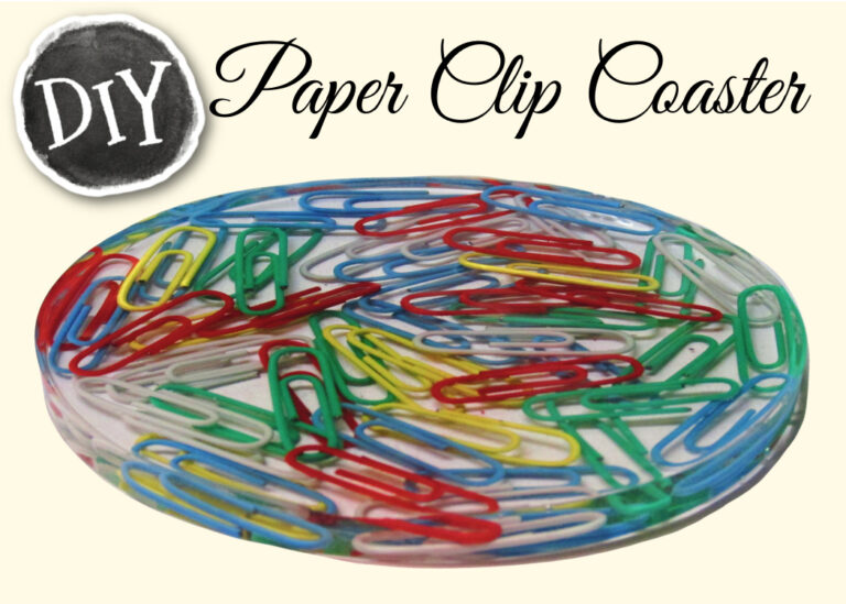 colorful Paper clip resin coaster DIY