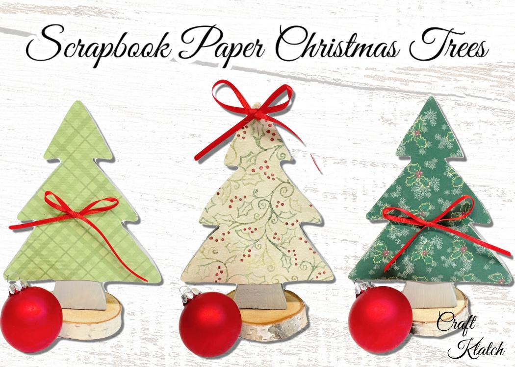 DIY Scrapbook paper Christmas Tree Decorations
