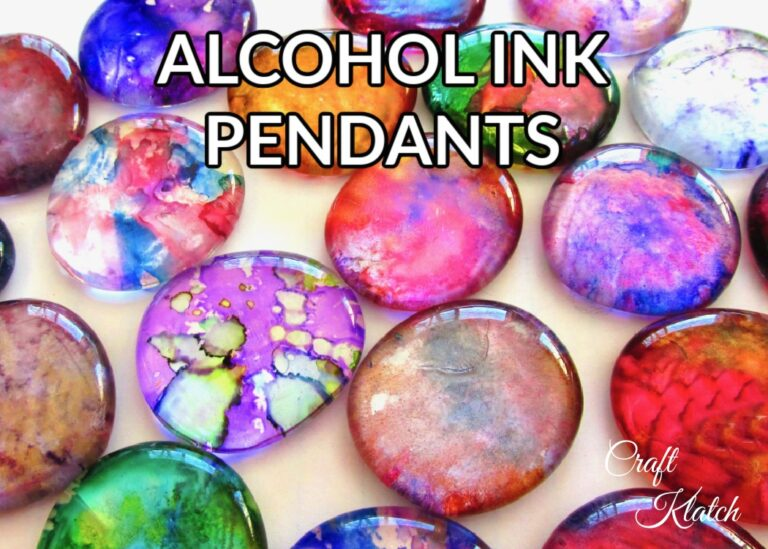 How to make alcohol ink pendants jewelry DIY
