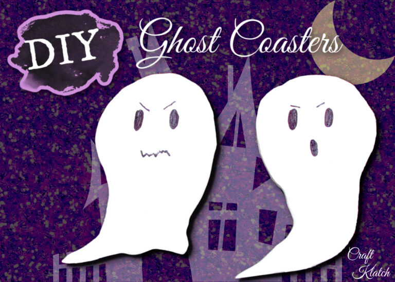 Easy ghost craft coaster