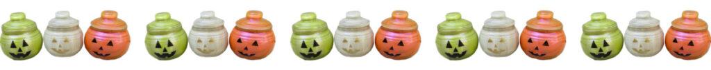 Glass pumpkin decorations for Halloween
