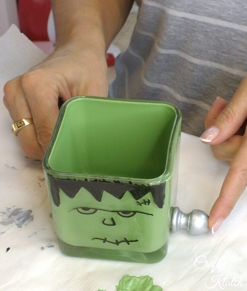 Glue on bolt for Frankenstein decoration