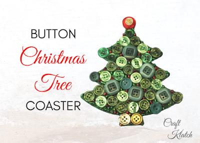 Christmas Tree Button Coaster Diy Another Coaster Friday Craft Klatch