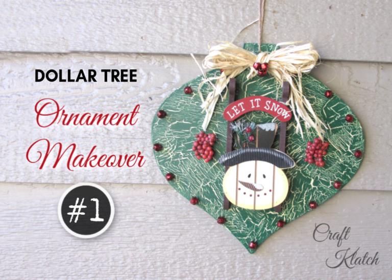 Dollar Store Ornament #1 Rustic Snowman