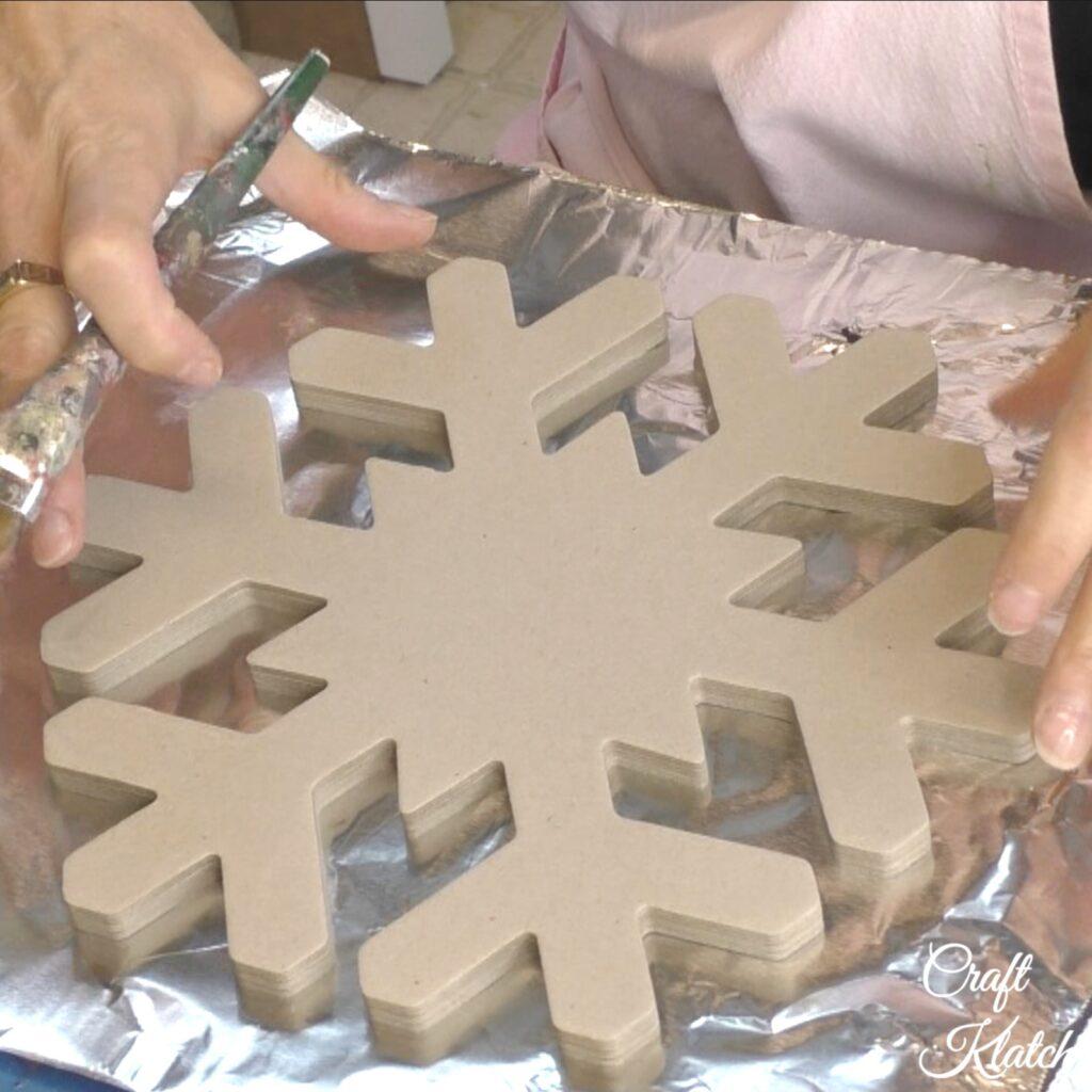 Unfinished snowflake decoration