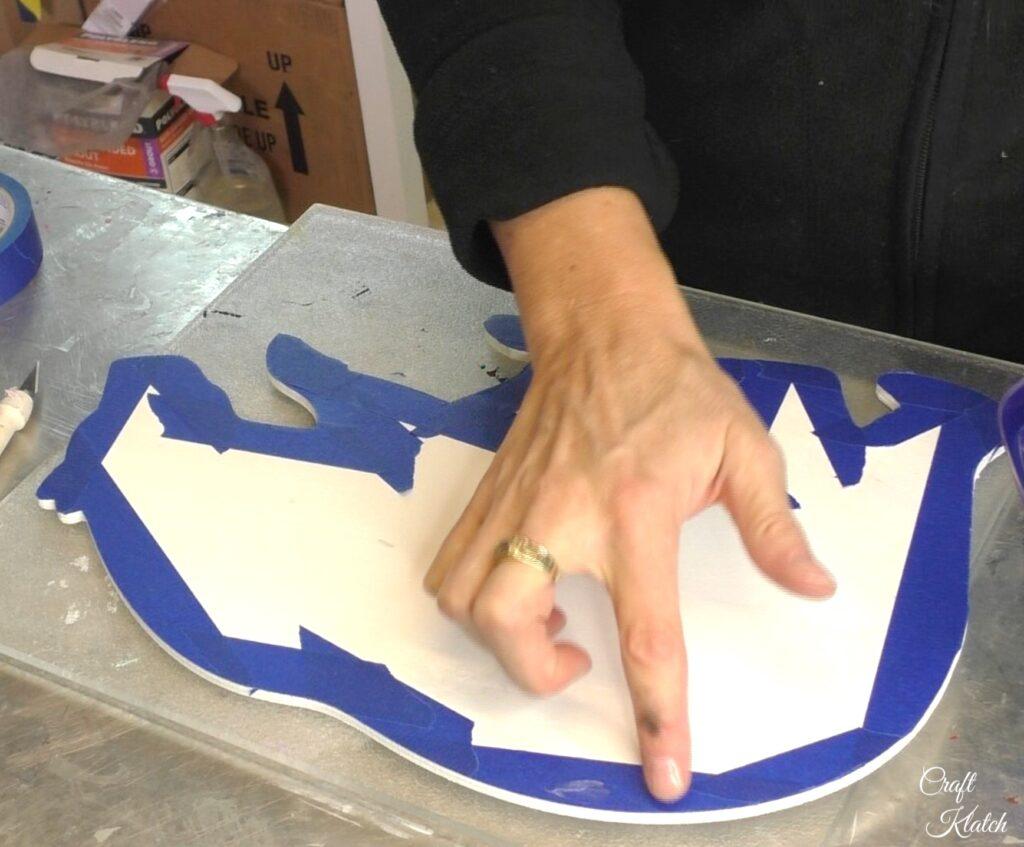 Add Vaseline to edge of tape