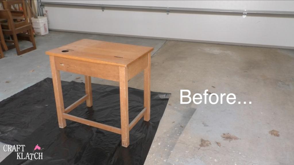Old desk before makeover