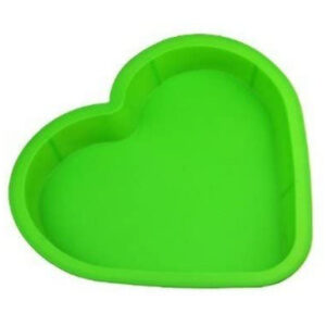 10 Inch Silicone Heart Mold in green