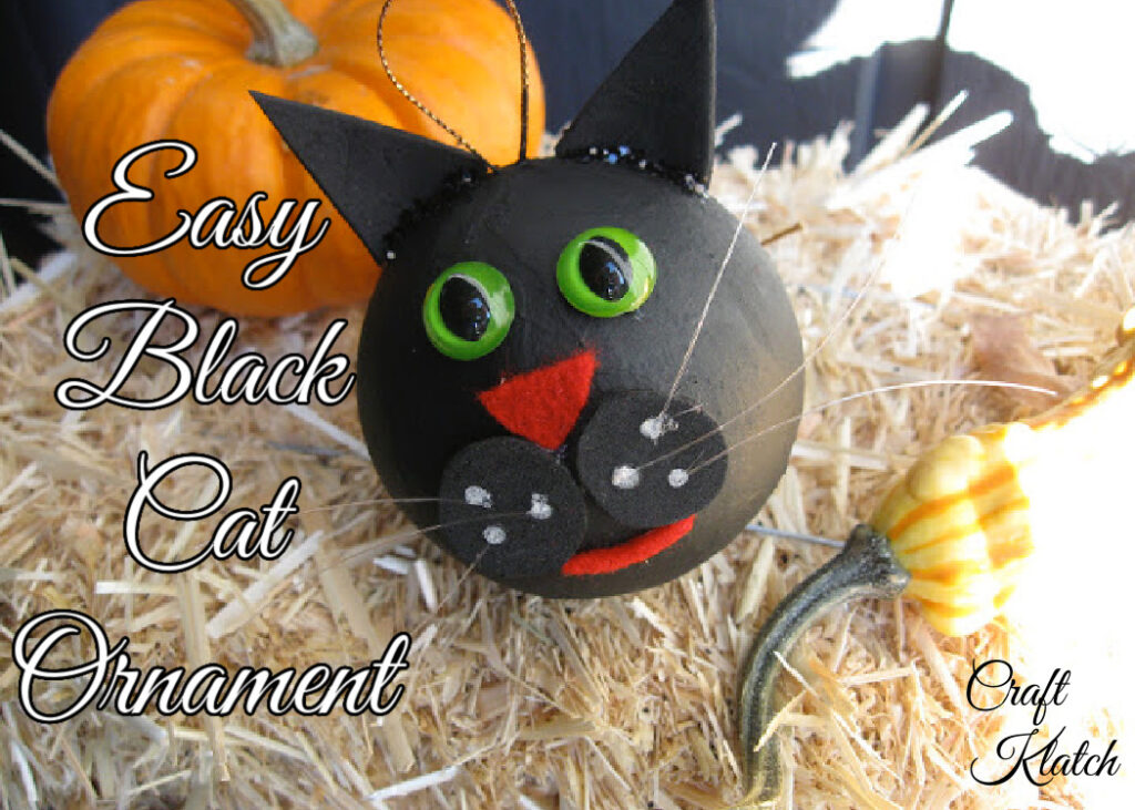 Black cat ornament craft fall crafts for kids