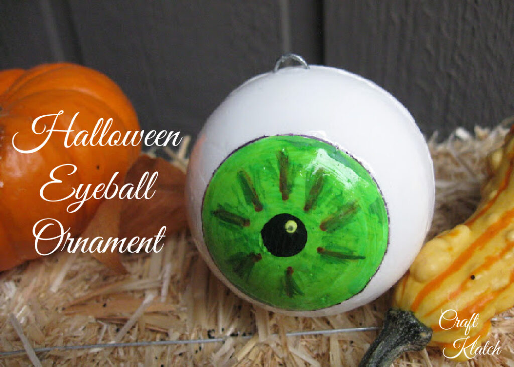 Styrofoam eyeball ornament halloween craft