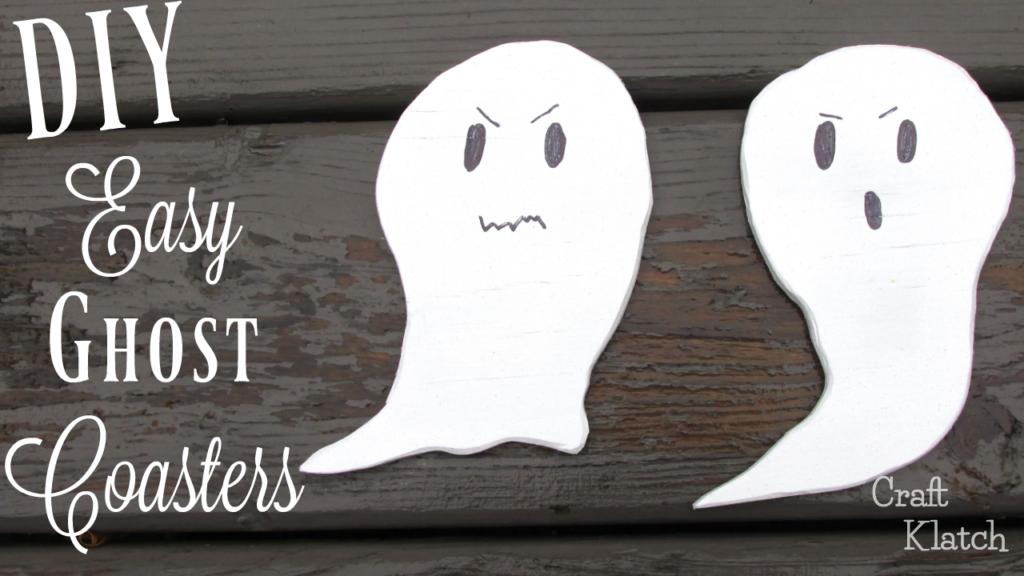 Wood ghost coasters