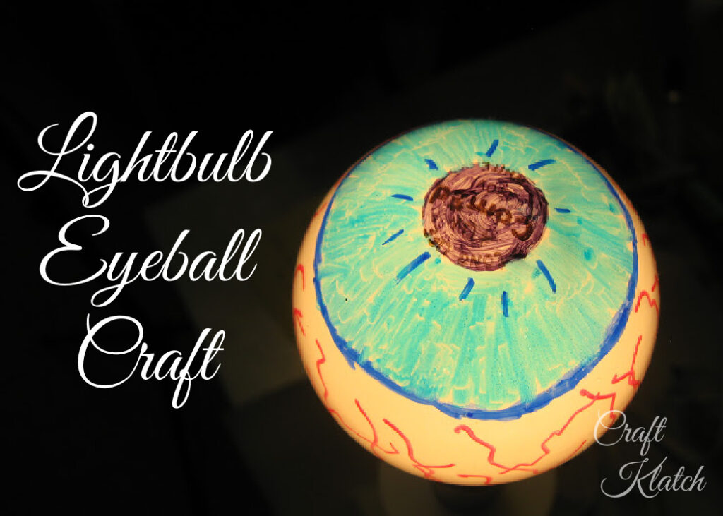 Eyeball lightbulb crafts