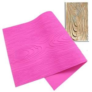 Wood grain textured silicone mat