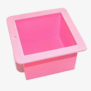 Pink square silicone coaster mold