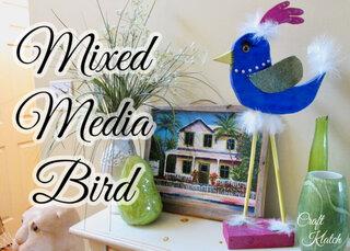 Mixed Media Bird beginning woodworking project