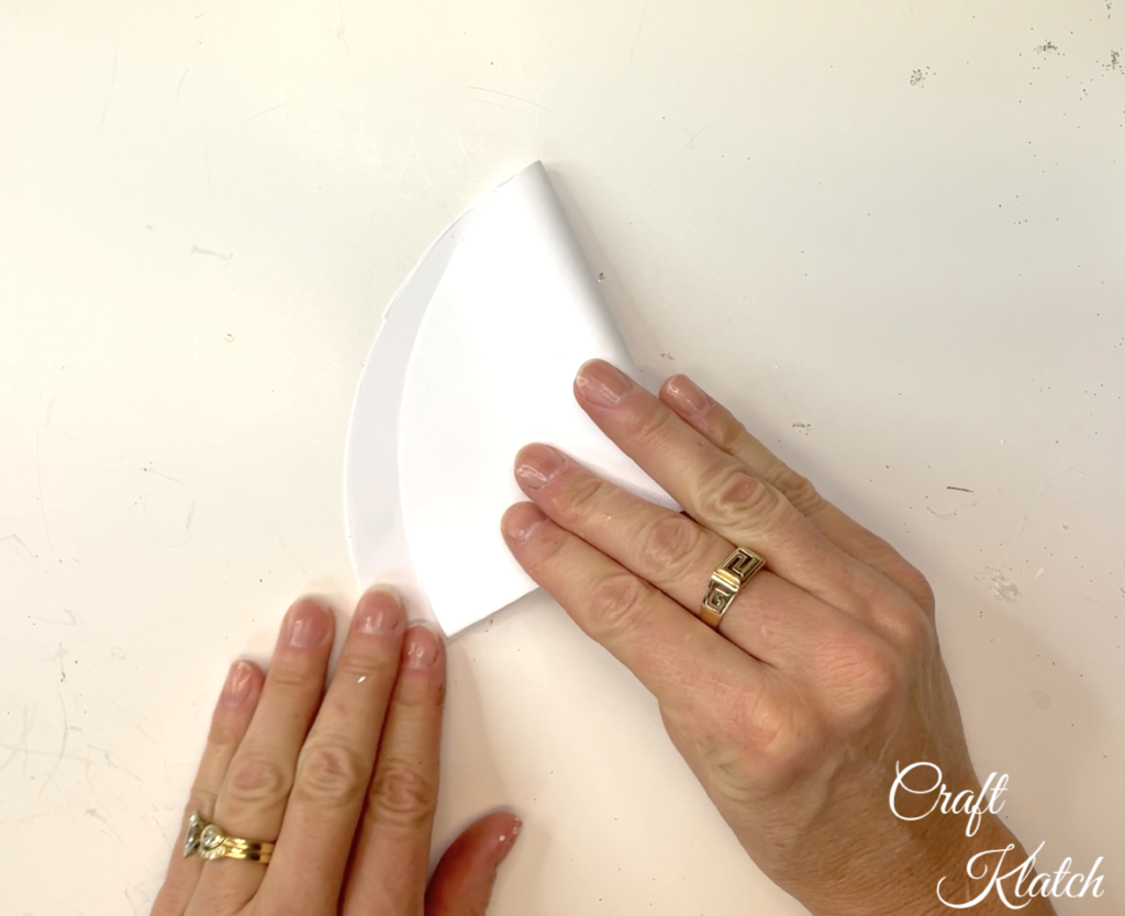 Fold paper circle