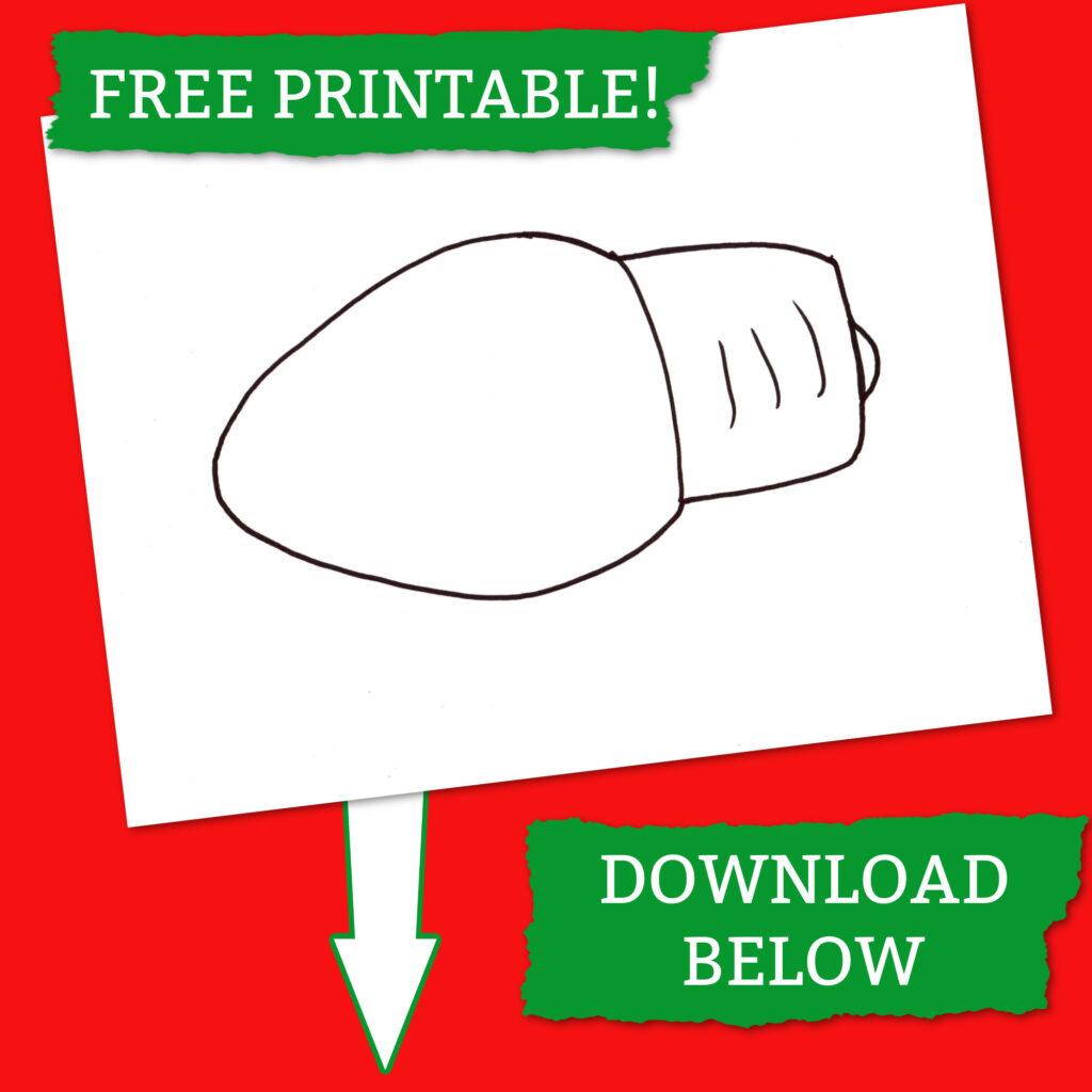 Free Printable of Christmas Light Template