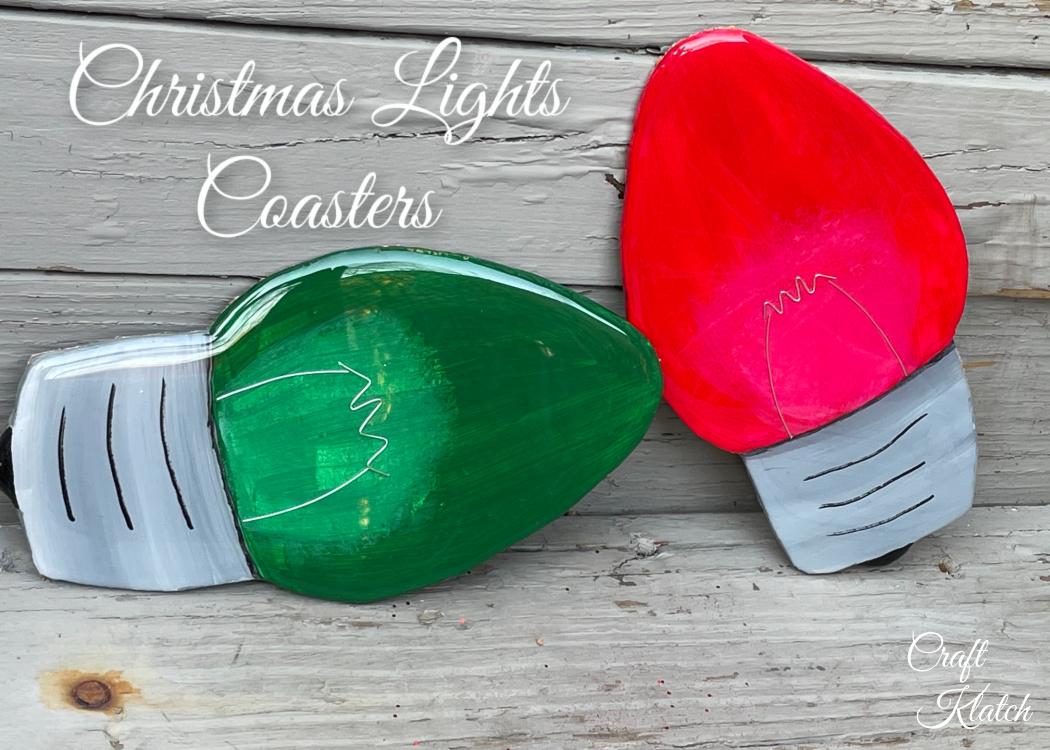 Christmas Lights Coasters