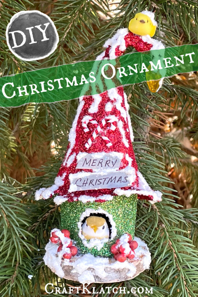 How to make an enchanted birdhouse Christmas ornament #christmas #christmasdecorations