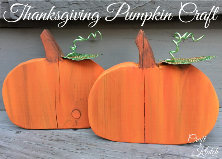Thanksgiving craft pumpkin decorations