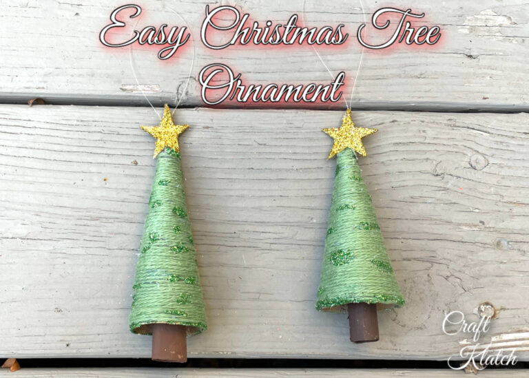 Toilet paper roll Christmas tree ornament set