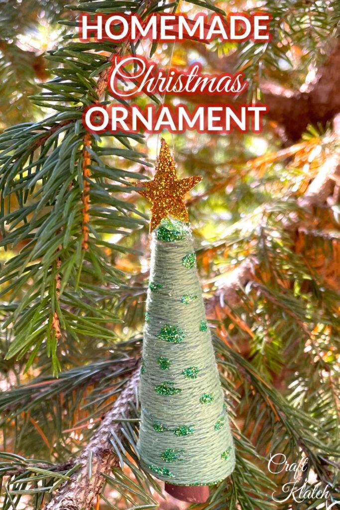 Toilet paper christmas tree ornament Pinterest image